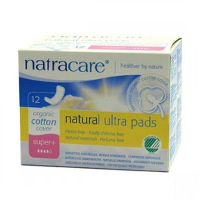 Absorbante bio Natracare - Super Plus (4 picaturi), 12 buc