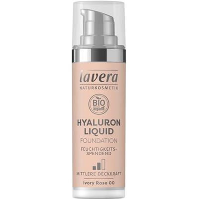 Fond de ten Hyaluron Liquid Ivory Rose 00, 30 ml - Lavera