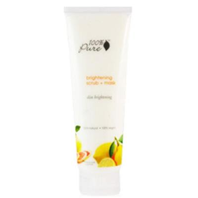Masca si exfoliant pentru ten luminos din fructe bogate in Vitamina C - 100 Percent Pure Cosmetics
